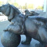 Bear with wings in Uzhgorod