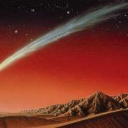 Comet over Mars