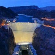 Dam at night