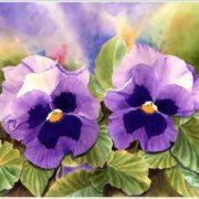 Doris Joa. Blue Pansies
