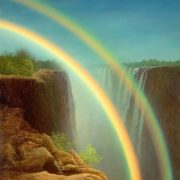 G. V. Koryagin. Rainbow in the waterfall. Victoria Falls