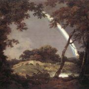 Joseph Wright. Landscape with Rainbow, 1795