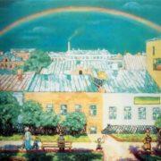 Krymov Nikolai Petrovich. Moscow landscape. Rainbow. 1908