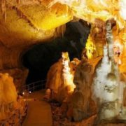Marble cave is a famous landmark in the Crimea