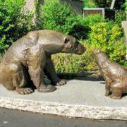 Monument to polar bears in Nuremberg Zoo