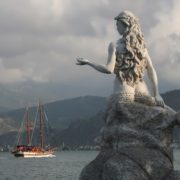 Monument to the mermaid in Fethiye, Turkey