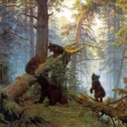Morning in the Pine Forest. Shishkin
