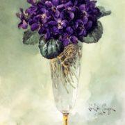 Paul de Longpri, Violets in a Glass, 1896