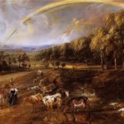 Peter Paul Rubens. Landscape with a Rainbow, 1638