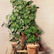 Pots Of Geraniums. Paul Cezanne, 1888