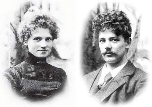 Sculptor Edvard Eriksen and his wife Eline