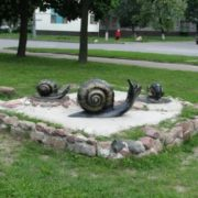 Sculpture of snails