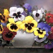 Victor Santos. Rainbow of Pansies