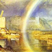 William Turner. Arundel Castle with Rainbow. 1824