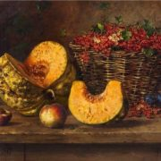 A. Girv. Still life with pumpkin and red currant