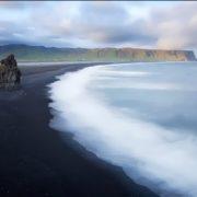 Beach with black sand