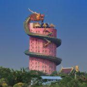 Giant dragon temple