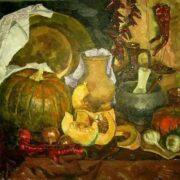 Grigoryeva-Klimova Olga. Still Life with Pumpkins