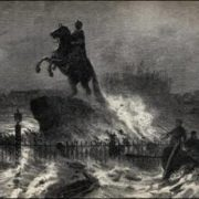 Horseman and flood