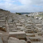 The Jewish cemetery, located on the Olive mountain