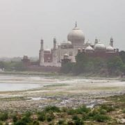 This is how the Taj Mahal looks from the windows of the Jasmine Tower
