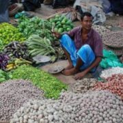 Street market in Bangladesh