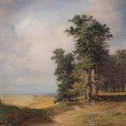 A. Savrasov. Summer landscape with oaks, 1850