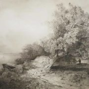 Alexey Kondratievich Savrasov. Old oak tree near the cliff above the river