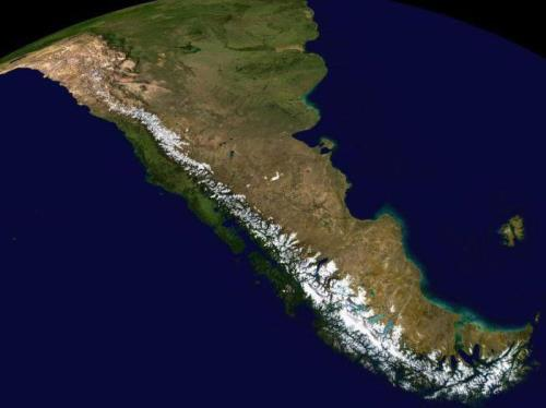 Andes on the map