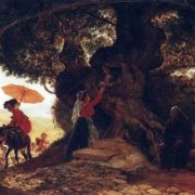 Bryullov. At the Bogoroditsky oak