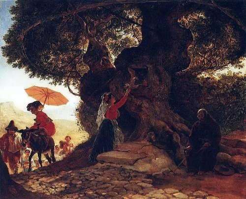Bryullov. At the Bogoroditsky oak