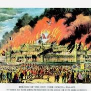 Crystal Palace in fire