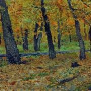 Isaak Ilyich Levitan. Oak grove in autumn