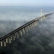 Bridge across Hangzhou Bay - the longest sea bridge in the world