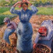 Camille Pissarro. Peasants Harvesting Potatoes.