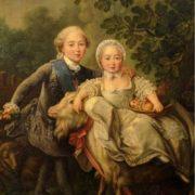Charles Philippe de France, Comte d'Artois, et sa soeur Madame Clothilde