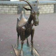 Cheerful goat in Nizhny Novgorod