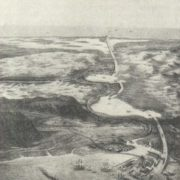 Drawing of the Suez Canal, 1881