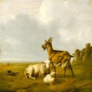 Eugene Joseph Verboeckhoven. Landscape with Goats and Sheep