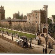 From the southeast, Cardiff Castle, Wales