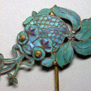 Hairpin Royal Koi fish in algae, China, Qing dynasty