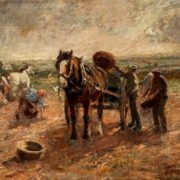 Harry Fidler. Clearing the Potato Field.