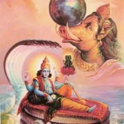 Hindu gods Rudra and Vishnu