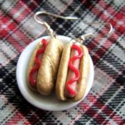 Hot dogs earrings