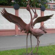 Interesting monument to stork