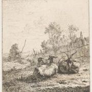 Karel Dujardin. Geit en twee schapen