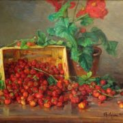 Klever Yuly Yulevich (son). Strawberry and flower in a pot. 1932