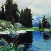 Lake in Lazha. 1909