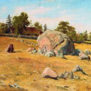 Landscape with boulders. 1911