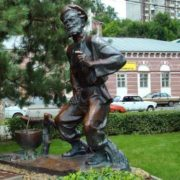 Monument to Grandfather Shchukar in Rostov-on-Don, Russia